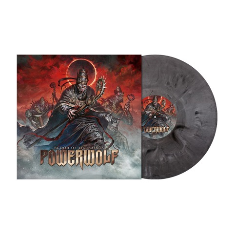 Blood Of The Saints (10th Anniversary Edition) - Ltd. Silver Black Marbled Vinyl by Powerwolf - Coloured LP - shop now at Powerwolf store