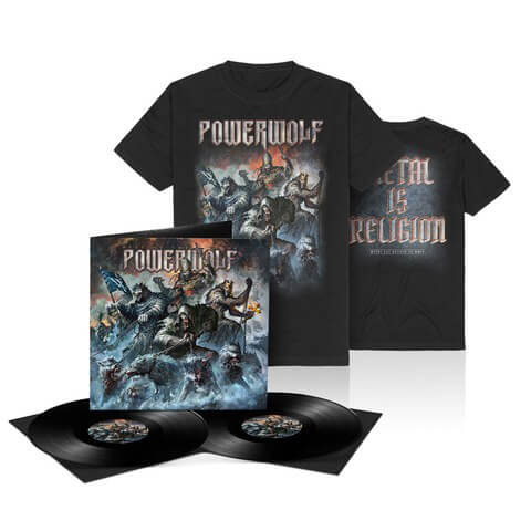 √Best Of The Blessed (Ltd. Bundle LP + T-Shirt) von Powerwolf - LP Bundle jetzt im Powerwolf Shop