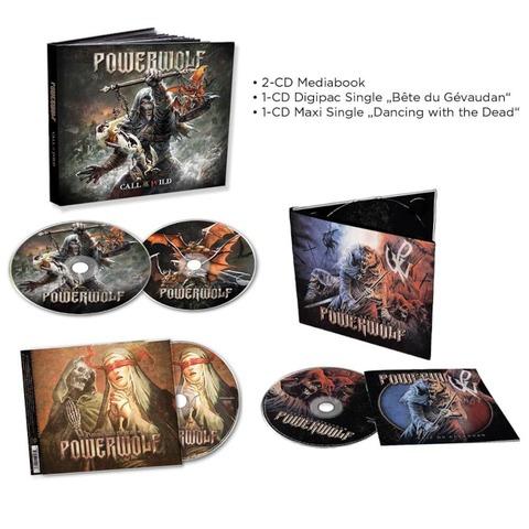 √Call Of The Wild (2CD Mediabook) + Dancing With The Dead (Single-CD) + Beast Of Gevaudan (Single-CD) von Powerwolf - CD-Bundle jetzt im Powerwolf Shop
