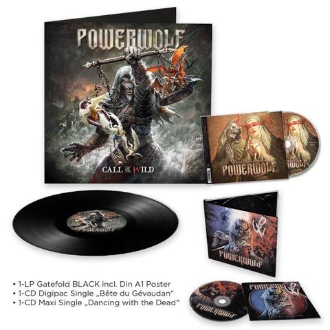 √Call Of The Wild (LP) + Dancing With The Dead (Single-CD) + Beast Of Gevaudan (Single-CD) von Powerwolf - LP-Bundle jetzt im Powerwolf Shop