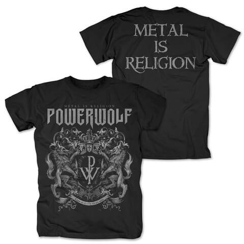 √Crest - Metal Is Religion von Powerwolf - T-Shirt jetzt im Powerwolf Shop