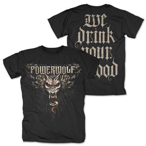 √Dracul Wolf von Powerwolf - T-Shirt jetzt im Powerwolf Shop