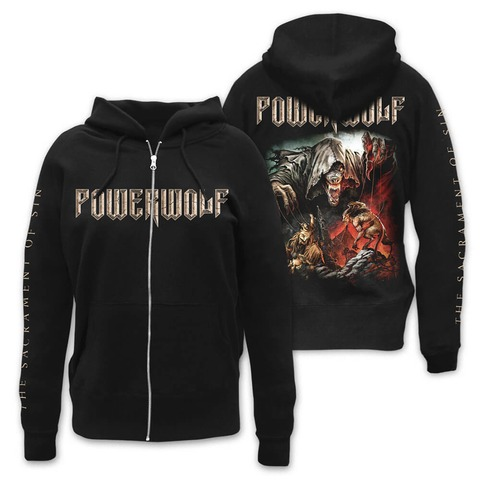 √The Sacrament Of Sin von Powerwolf - Girlie hooded jacket jetzt im Powerwolf Shop