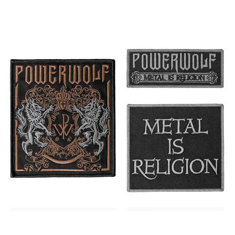 √Crest & Logo von Powerwolf - 3er Aufnäher Set jetzt im Powerwolf Shop