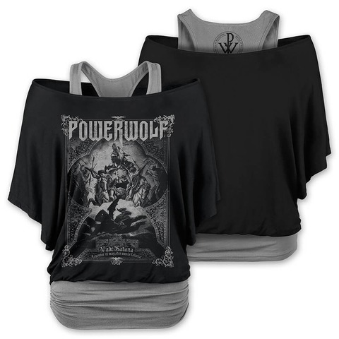 √Vada Satana von Powerwolf - Doublelayer Girlie Shirt jetzt im Powerwolf Shop
