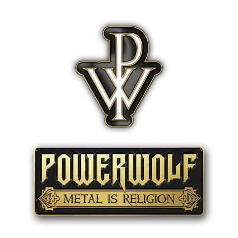 √Logo Pin Set von Powerwolf - 2er Pin Set jetzt im Powerwolf Shop