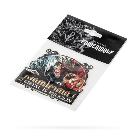 √Sacrament Of Sin Sticker Set von Powerwolf - 4er Sticker Set jetzt im Powerwolf Shop