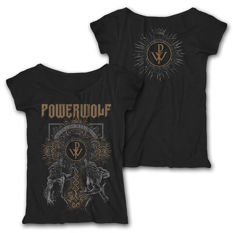 √Wolf Cross von Powerwolf - Girlie Shirt Loose Fit jetzt im Powerwolf Shop
