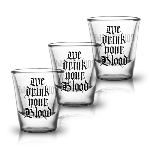 √We Drink Your Blood von Powerwolf - 3er Set Shot Glas jetzt im Powerwolf Shop