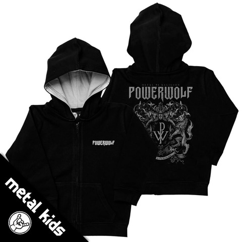√Metal Kids Crest von Powerwolf - Children's hooded jacket jetzt im Powerwolf Shop
