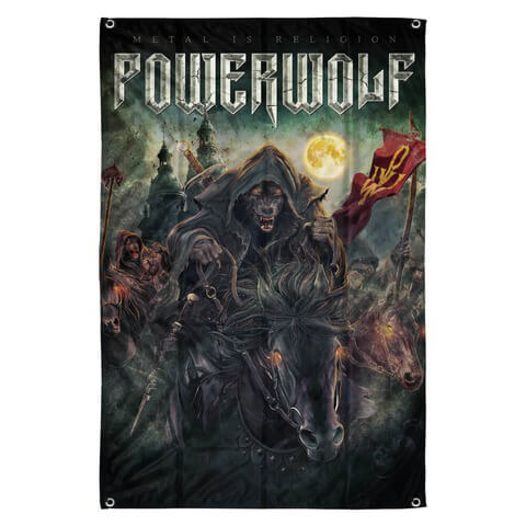 √Metal Mass with Symbol von Powerwolf - Wendeflagge jetzt im Powerwolf Shop