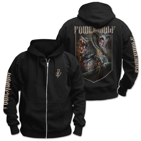 √Kiss Of The Cobra King von Powerwolf - Hooded jacket jetzt im Powerwolf Shop