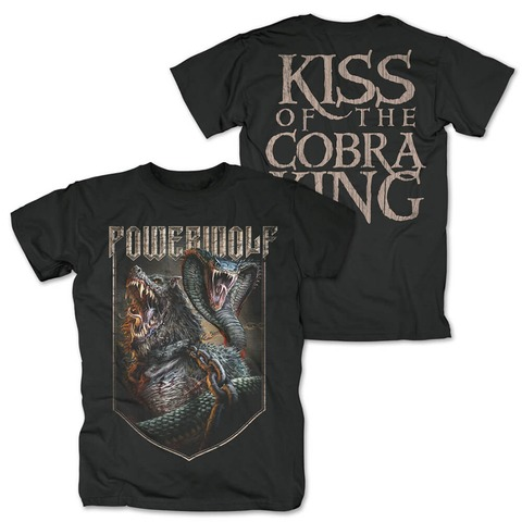√Kiss Of The Cobra King von Powerwolf - T-Shirt jetzt im Powerwolf Shop
