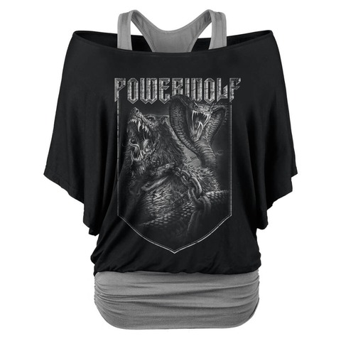 √Kiss Of The Cobra King von Powerwolf - Girlie Double Layer Shirt jetzt im Powerwolf Shop