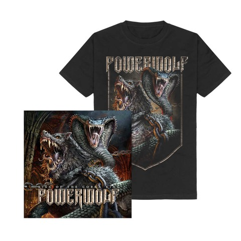 √Kiss Of The Cobra King Bundle von Powerwolf - T-Shirt + Single CD jetzt im Powerwolf Shop