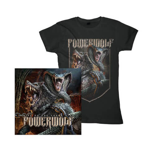 √Kiss Of The Cobra King Bundle von Powerwolf - Girlie Shirt + Single CD jetzt im Powerwolf Shop