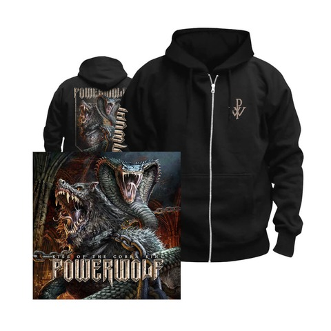√Kiss Of The Cobra King Bundle Zipper + Single-CD von Powerwolf - Kapuzenjacke + Single CD jetzt im Powerwolf Shop