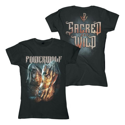 Hourglass von Powerwolf - Girlie Shirt jetzt im Powerwolf Shop