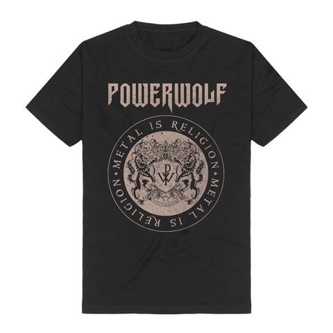 √Crest Circle von Powerwolf - T-Shirt jetzt im Powerwolf Shop
