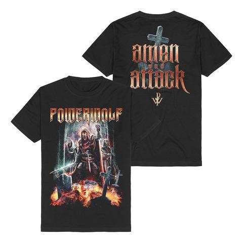 Amen & Attack von Powerwolf - T-Shirt jetzt im Powerwolf Shop