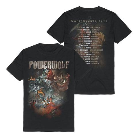 Wolfsnächte 2021 von Powerwolf - T-Shirt jetzt im Powerwolf Shop