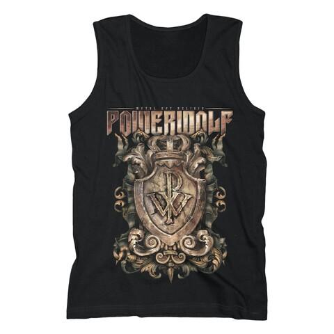 √Metal Est Religio Crest von Powerwolf - Tank Shirt Men jetzt im Powerwolf Shop