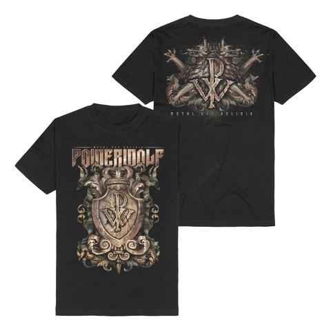 √Metal Est Religio Crest von Powerwolf - t-shirt jetzt im Powerwolf Shop
