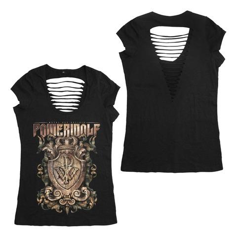 √Metal Est Religio Crest von Powerwolf - Girlie Shirt Cut Back jetzt im Powerwolf Shop